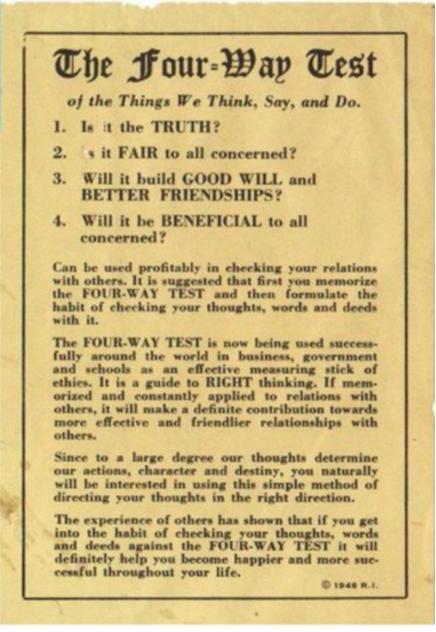 Faksimile der 4Fragen-Probe aus 1943